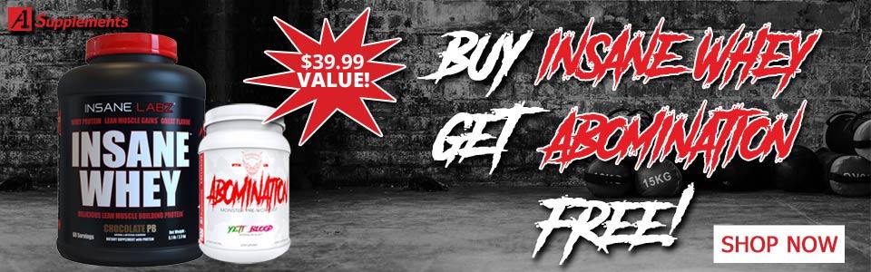 Buy Insane Labz Insane Whey - 4.6 Lbs, Get Abomination FREE!