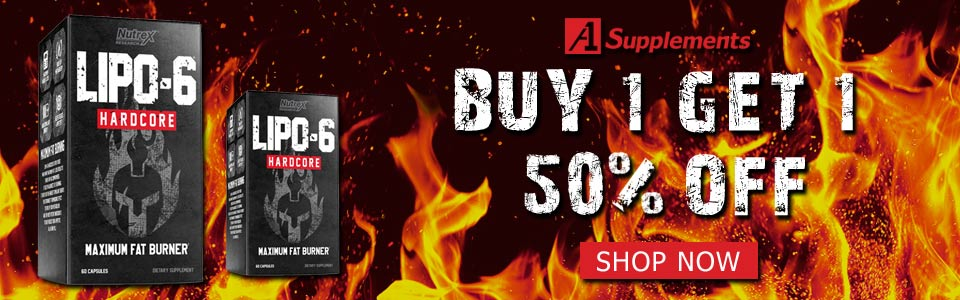 Buy 1 Nutrex Research Lipo-6 Hardcore - 60 Capsules, Get 1 50% OFF!