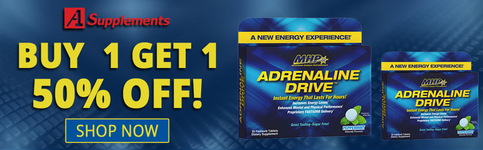 Buy MHP Adrenaline Drive - 30 Tablets, Get 1 50% OFF!