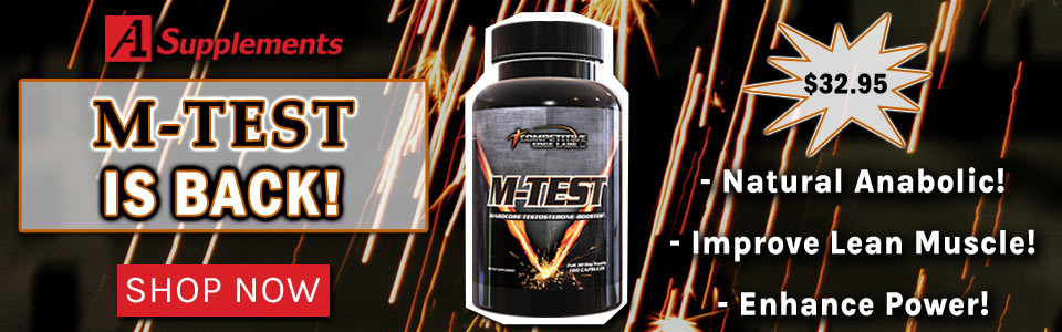 Competitive Edge Labs M-Test - 180 Capsules Is Back and Only $39.99!