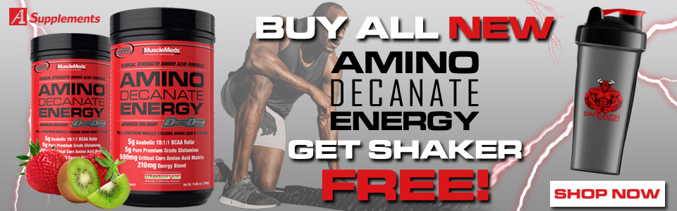 Buy MuscleMeds Amino Decanate Energy - 30 Servings,Get Shaker FREE!