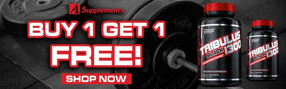 Buy 1 Nutrex Research Tribulus Black 1300 - 120 Capsules, Get 1 FREE!