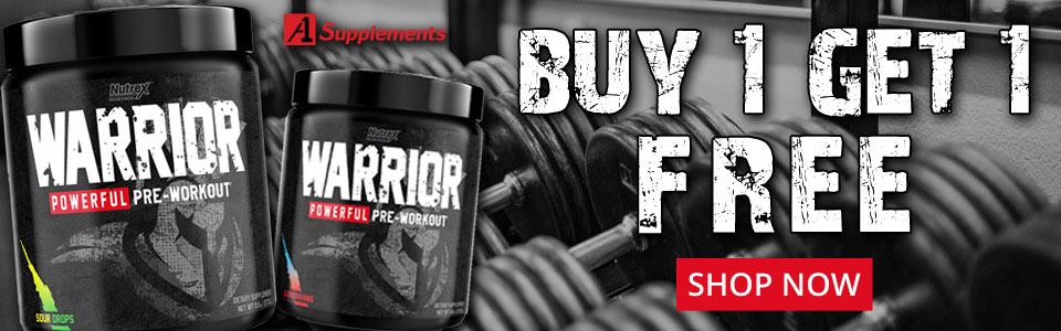 Buy 1 Nutrex Research Warrior - 30 Servings, Get 1 FREE!