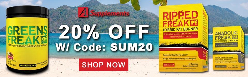 20% OFF Select PharmaFreak, With Code SUM20!