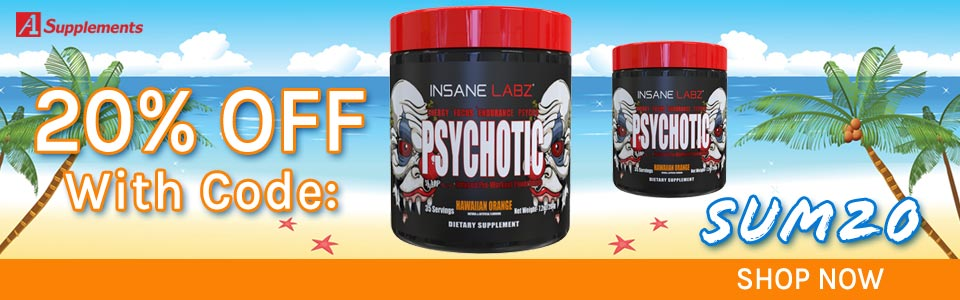 Buy Insane Labz Psychotic - 35 Serivings, Get 20% OFF With Code SUM20!
