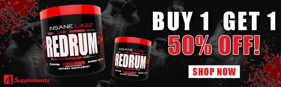 Buy 1 Insane Labz Redrum - 25 Servings, Get 1 50% OFF!