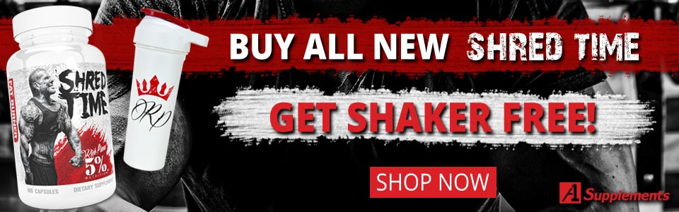 Buy 5% Nutrition Shred Time - 180 Capsules, Get Shaker FREE!