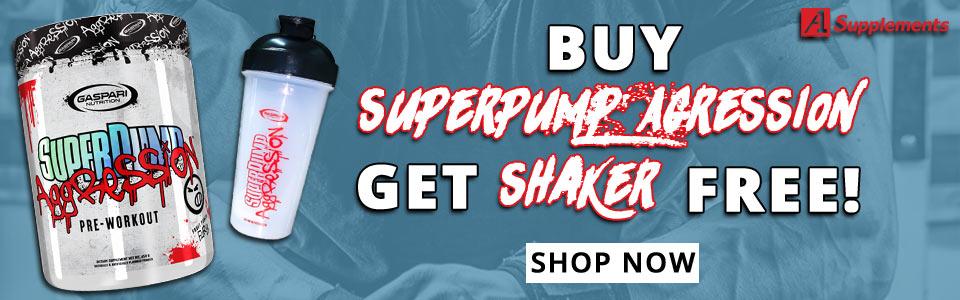Buy Gaspari Nutrition Superpump Aggression - 25 Servings, Get SHAKER FREE!