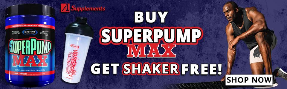 Buy Gaspari Nutrition SuperPump Max - 40 Servings, Get Shaker FREE!
