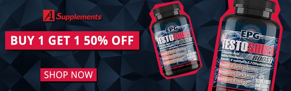 Buy 1 EPG Testoshred - 120 Capsules, Get 1 50% OFF!