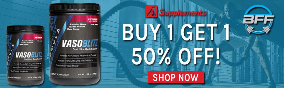 Buy 1 Build Fast Formula VasoBLITZ - 30 Servings, Get 1 50% OFF!