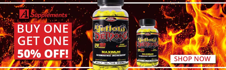 Buy 1 Anabolic Science Labs Yellow Demons - 100 Capsules, Get 1 50% OFF!