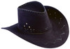 Hat Cowboy Flocked Black Adult