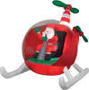 Airblown Helicopter Santa