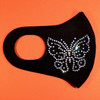 Rhinestone Butterfly Face Mask