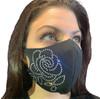 Rhinestone Rose Face Mask