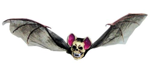 Bat With Skull Head Med Brown