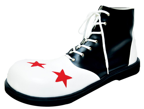 Shoe Clown B And W Men Lg