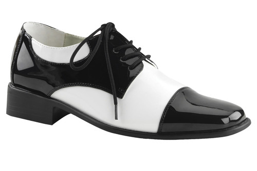 Shoe Oxford Bk And Wt Men Sm