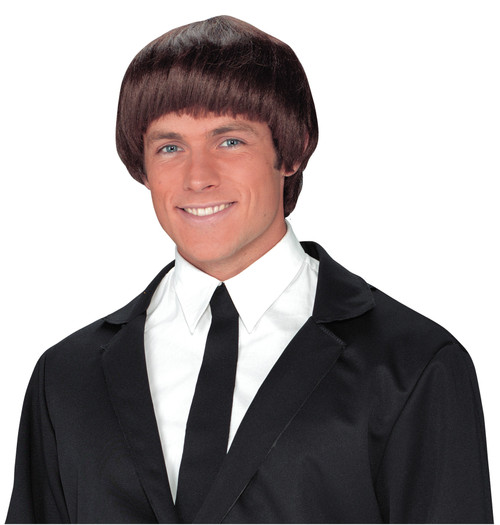 60s Band Member Brown Wig
