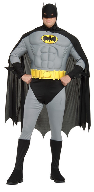 Batman Musc Chest Adult 44-50