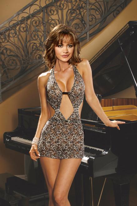 Dress Leopard Halter Small