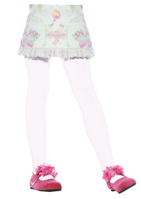 Tights Child White Large 7-10