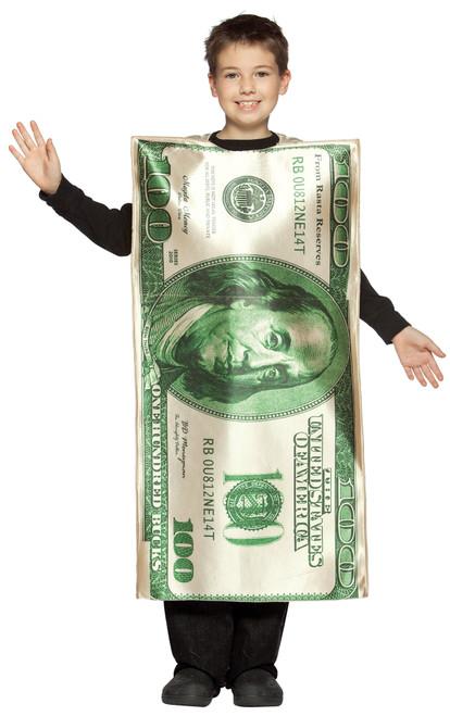 $100 Dollar Bill Child 7-10