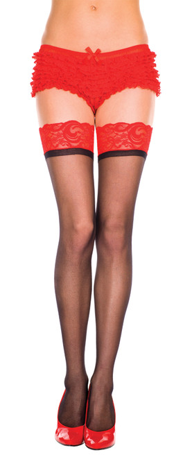 Thigh Hi Two Tone Black/red Pl