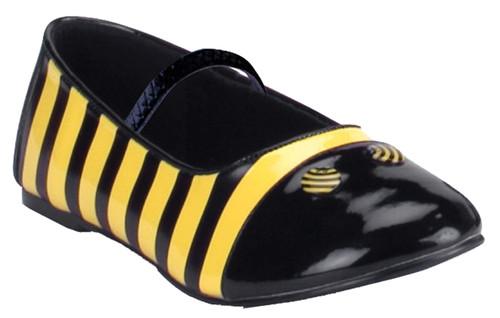 Shoes Bee Flat Chld Lg Bk Yw