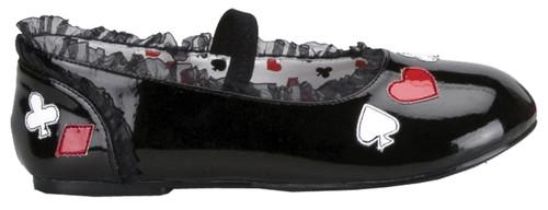 Shoes Alice Child Flat Lg Bk