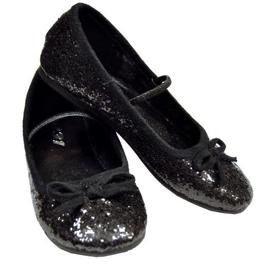 Flat Ballet Glittr Ch Bk Small