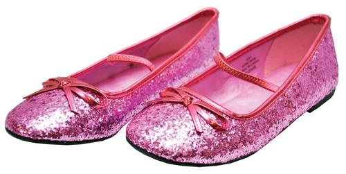 Flat Ballet Glitter Ch Pk Xsm