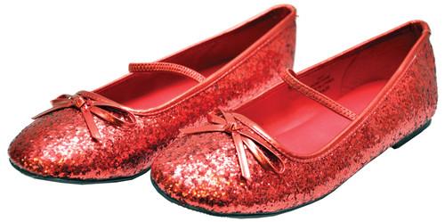 Flat Ballet Glitter Ch Red Xsm