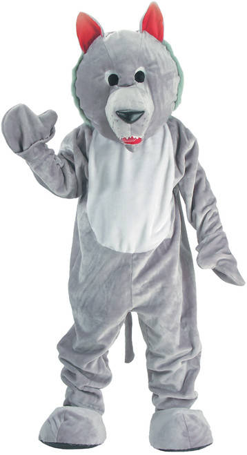 Wolf Mascot Grey Adult One Sz.