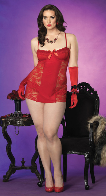 2 Pc Chemise And Panty 3x 4x