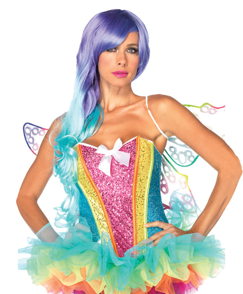 Corset Rainbow Sequin Adult Md
