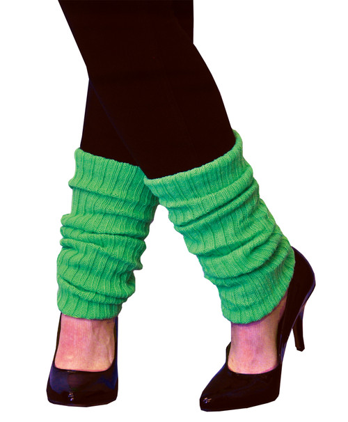 Leg Warmers Adult Neon Green