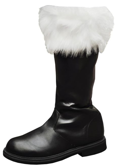 Santa Boot With White Fur Cuff