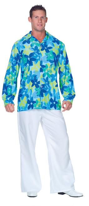 60s Flowers Shirt Adult One Sz
