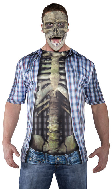 Photo Real Shirt Skeleton Adul