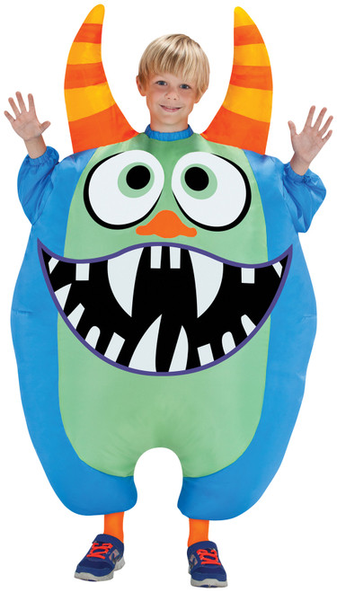 Blue Monster Inflatable Child Costume