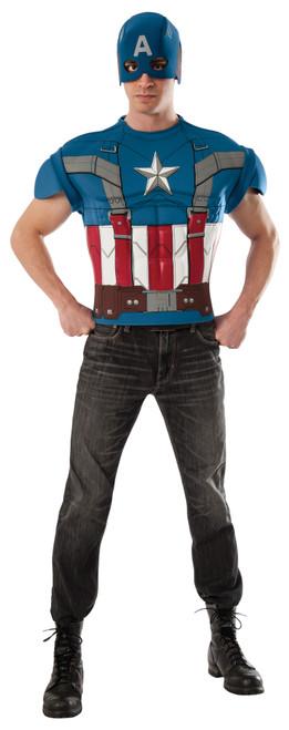 Capt America Top Adult