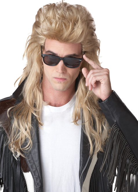 80's Rock Mullet Blonde Wig