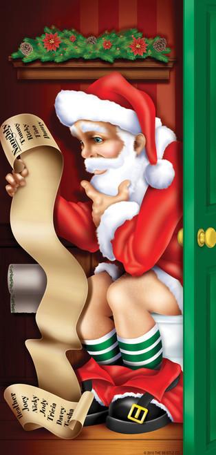 Santa Restroom Door Cover