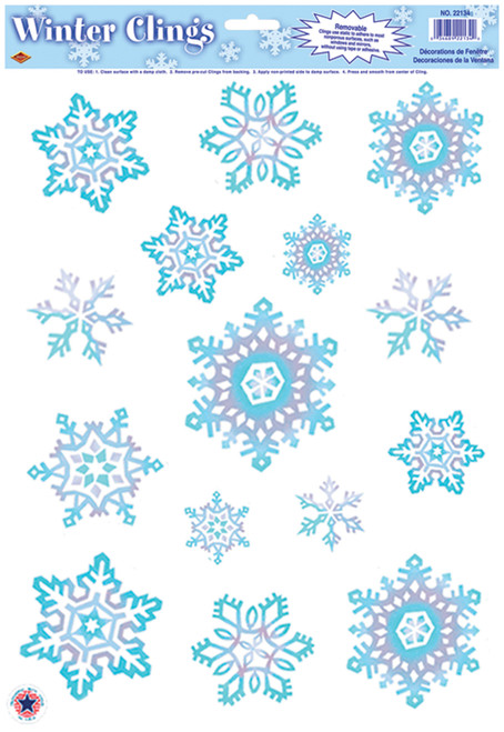 Crystal Snowflake Clings