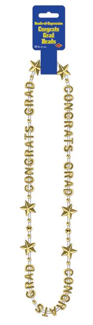 Congrats Grad Beads Gold