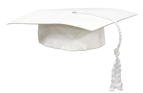 Graduate Cap White