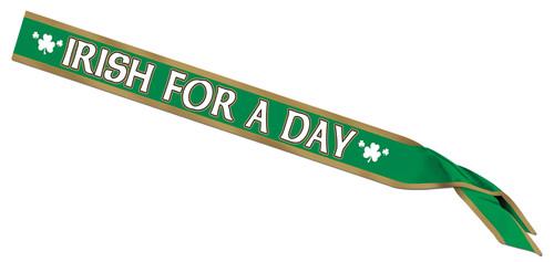 Irish For A Day Satin Sash