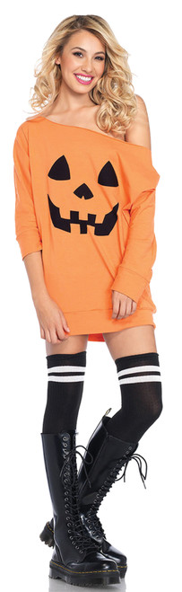 Jersey Dress Pumpkin Costume